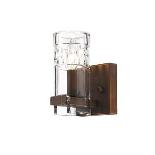 "Millennium Lighting 811 Tulsa Single Light 5"" Wide Bathroom Sconce with Glass Shade"
