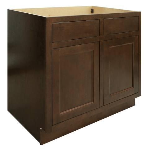 """Sunny Wood HBB36S-A Healdsburg 36"""" Double Door Sink Base Cabinet -"""