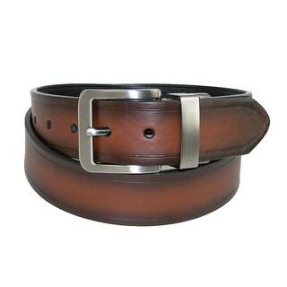 Dickies Men's Leather 38mm Reversible Bridle Belt - tan to black