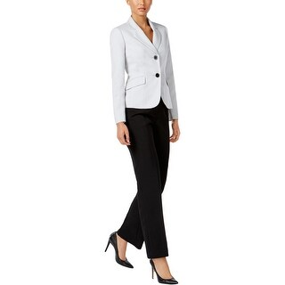 Le Suit Womens Pant Suit 2 PC Melange