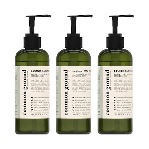 Common Ground Natural Liquid Hand Wash with Avocado Oil Extracts (3 Pack) - 8.4 Fl Oz