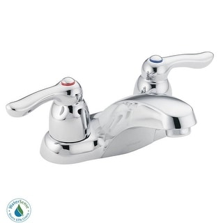 Moen 64922  Double Handle Centerset Bathroom Faucet from the Chateau Collection (Valve Included) - Chrome