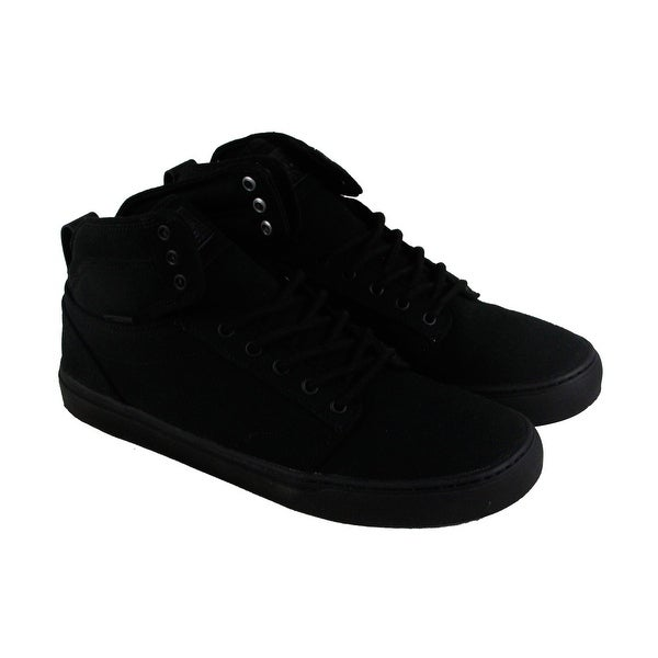 e4d1099c0e Shop Vans Alomar Mens Black Canvas Lace Up Sneakers Shoes - Free ...
