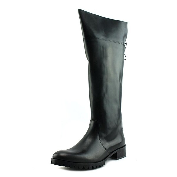 Charles David Jayne Women Round Toe Leather Over the Knee Boot