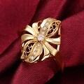 Abstract Gold Floral Petal Ring - Thumbnail 2