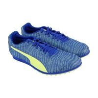 Puma Evospeed Star 6 Mens Blue Textile Athletic Lace Up Running Shoes
