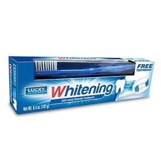 Lucky Super Soft 10687-24 Whitening Anti-Cavity Fluoride Toothpaste, 6.4 Oz