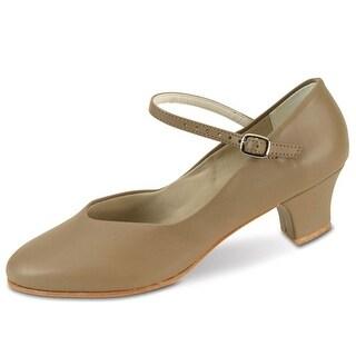Danshuz Womens Tan Versatile Character Heel Dance Shoe Size 5-11