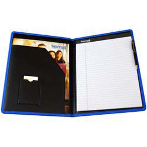 Blue - Padfolio Diamond Debossed Fashion Color Pad Holder