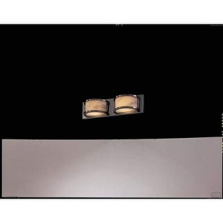 Metropolitan N2622 Alabaster Stone / Glass 2 Light Bathroom Fixture from the Virtuoso Collection - Pewter