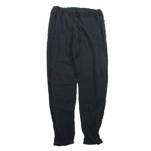 Volcom Black Crochet Inset Moonfire Pants Cover-Up S