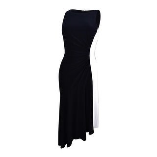 Lauren by Ralph Lauren Women's Colorblocked Asymmetrical Dress - BLACK/WHITE