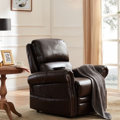 Power Lift Recliner Chair PU Leather Heavy Duty Remote Mechanism