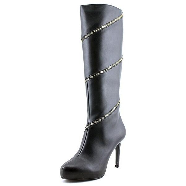 Thalia Sodi Womens VALDIVA Leather Almond Toe Knee High Fashion Boots