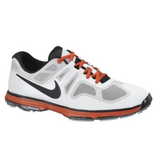 Nike Men's Lunar Ascend II Light Grey/Black/White/Orange Golf Shoes 628340-001
