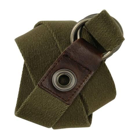 Aeropostale Mens Knit Olive Green Woven Belt - S/M