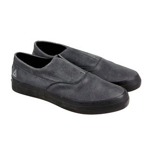 HUF Dylan Slip On Mens Black Leather Casual Dress Slip On Loafers Shoes
