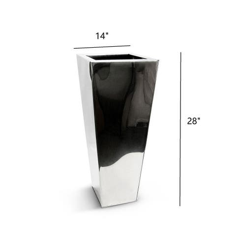 Chroma Classik Tapered Stainless Steel Mirror Vase