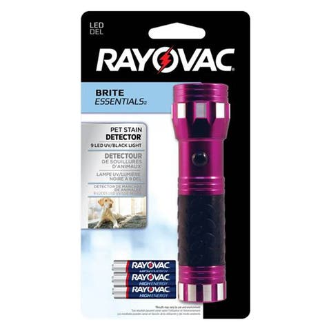 Rayovac VBUB-BD Brite Essentials UV LED Flashlight, Magenta, 9 Lumens