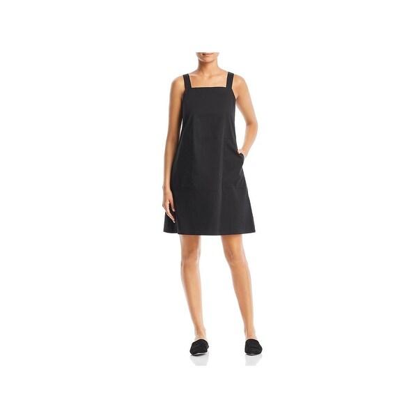 Eileen Fisher Womens Petites Tank Dress Sleeveless Mini
