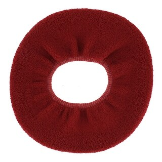 Home Bathroom Closestool Lid Cover Warmer Toilet Seat Cloth Mat Cushion Red
