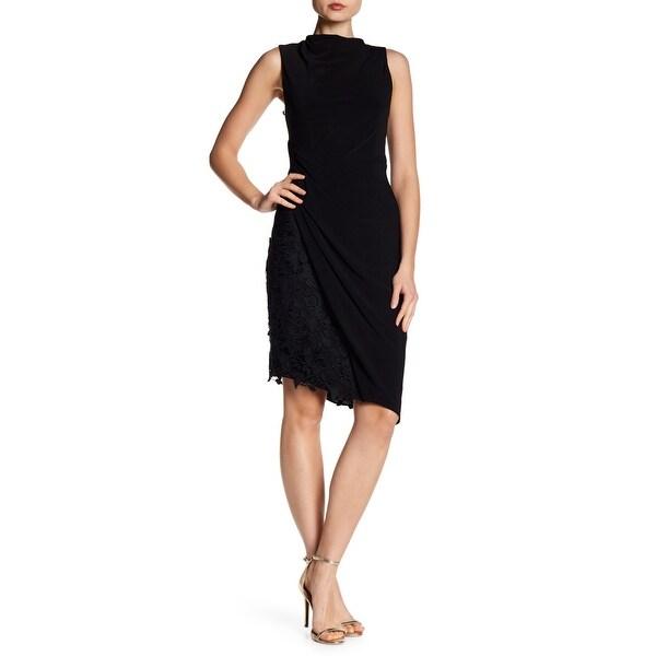 Vera Wang Mock Neck Jersey Dress