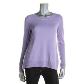 Diane Von Furstenberg Womens Pullover Sweater Cashmere Ribbed Trim - S