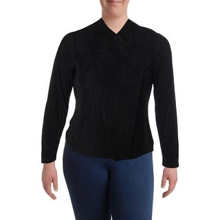 Calvin Klein Womens Basic Jacket Faux Suede Asymmetric