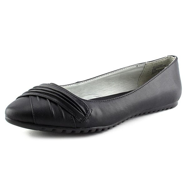 White Mountain Selina Women Pointed Toe Synthetic Black Flats