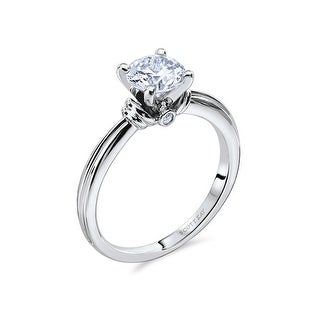 14kt White & 18kt Rose Gold Ladies Solitaire Semi Mount Engagement Ring with 0.02CT Diamond Set From the by Scott Kay