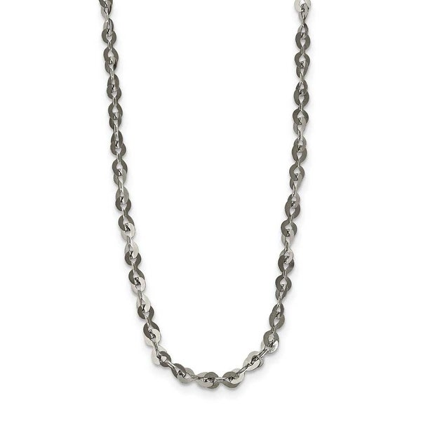 Stainless Steel Polished 3.3 mm Fancy Link Chain