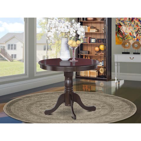 Antique Dining Room Table - Cherry Table Top Surface and black Finish legs Hardwood Frame Wood Table (Finish Option) - 1 Table