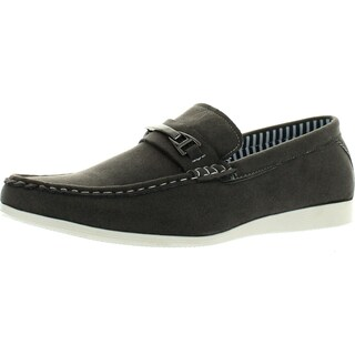 Coronado Men Casual Shoe Cody-2 Comfort Loafer Style With A Moc-Stitched Toe And Buckle Details (Option: 9.5 d(m) us - Grey - Synthetic)