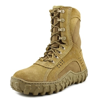 Rocky S2V Round Toe Suede Combat Boot