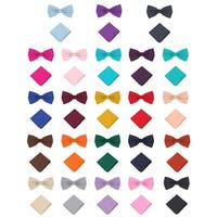 Jacob Alexander Polka Dot Print Men's Pretied Bowtie Pocket Square Set - One size