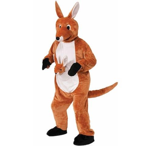 Forum Novelties Jumpin' Jenny the Kangaroo Mascot Adult Costume - Brown - Standard
