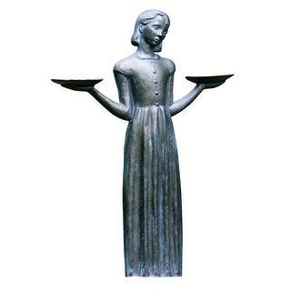"Savannah Bird Girl Statue - Lawn and Garden Sculpture (24""H-No Pedestal) - 15 in."