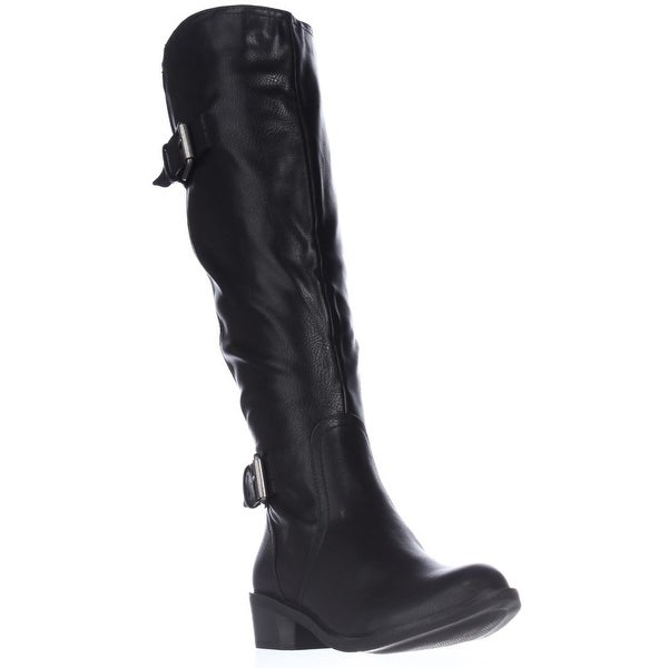 SC35 Derbey Knee-High Riding Boots, Black