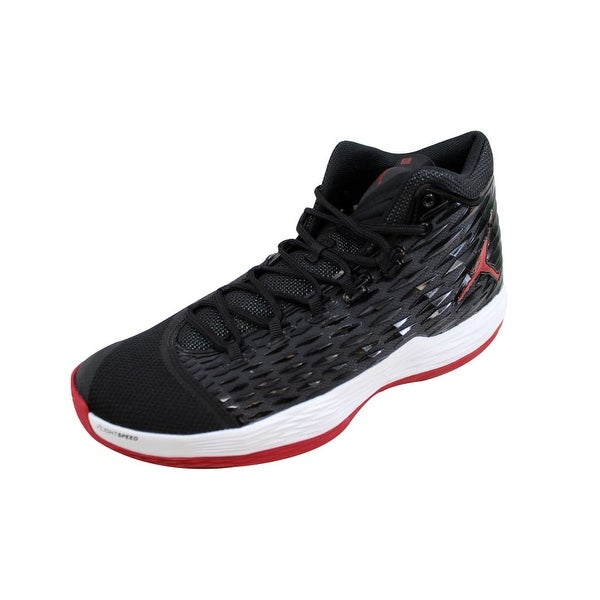 fef5667d42d5 Shop Nike Men s Air Jordan Melo M13 Black Gym Red-White-Anthracite ...