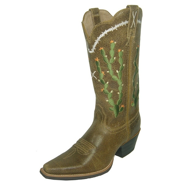 Twisted X Western Boots Womens Silver Buckle Broken Saddle