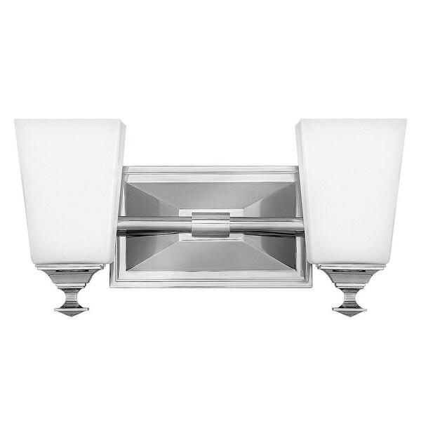 "Hinkley Lighting 56672 Baldwin 2-Light 13-3/4"" Wide Bathroom Vanity Light with Frosted Glass"