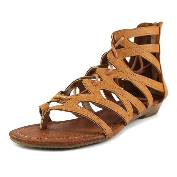 Rampage Santini Women Open Toe Synthetic Brown Gladiator Sandal