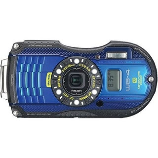 RICOH 08557 16.0 Megapixel WG-4 GPS Waterproof Digital Camera (Blue US/CA)