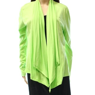 American Living NEW Green Women's Size Medium M Draped Cardigan Sweater