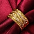 Gold Trio- Layered Ring - Thumbnail 3