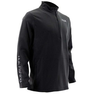Huk Men's Tidewater Black Medium 1/4 Zip Sweater