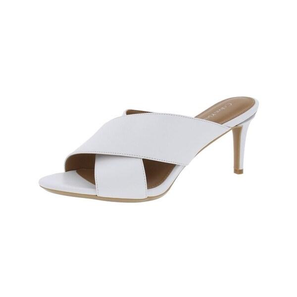 Calvin Klein Womens Lucie Heels Leather Open Toe