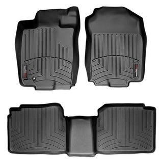 WeatherTech 44108-1-2 Black Front & Rear FloorLiner: Ford Fusion 2006 - 2009
