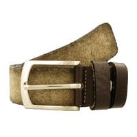 Renato Balestra A443 BEIGE Leather Mens Belt