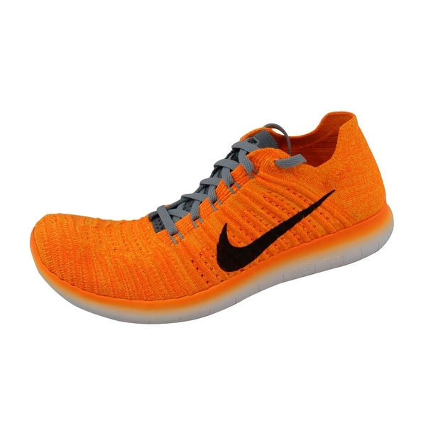 ee62b09b4ccd Shop Nike Women s Free RN Flyknit Laser Orange Black-Gamma Blue-Cool ...